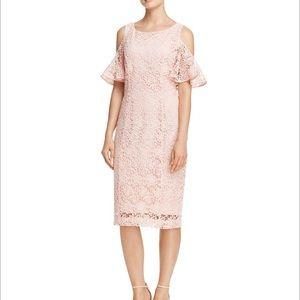 Nanette Lepore Cold Shoulder Flutter Sleeve Dress